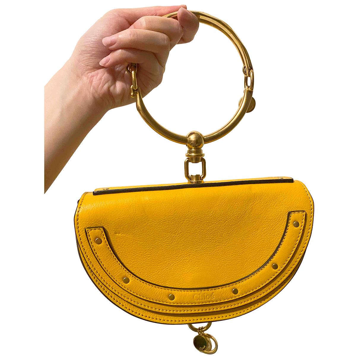 Chloe Bracelet Nile Handtasche in  Gelb Leder