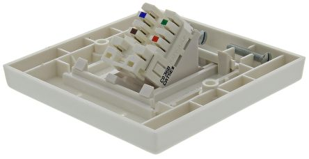 RS PRO Angled Cat5e 1 Way RJ45 Face Plate,With STP Shield Type
