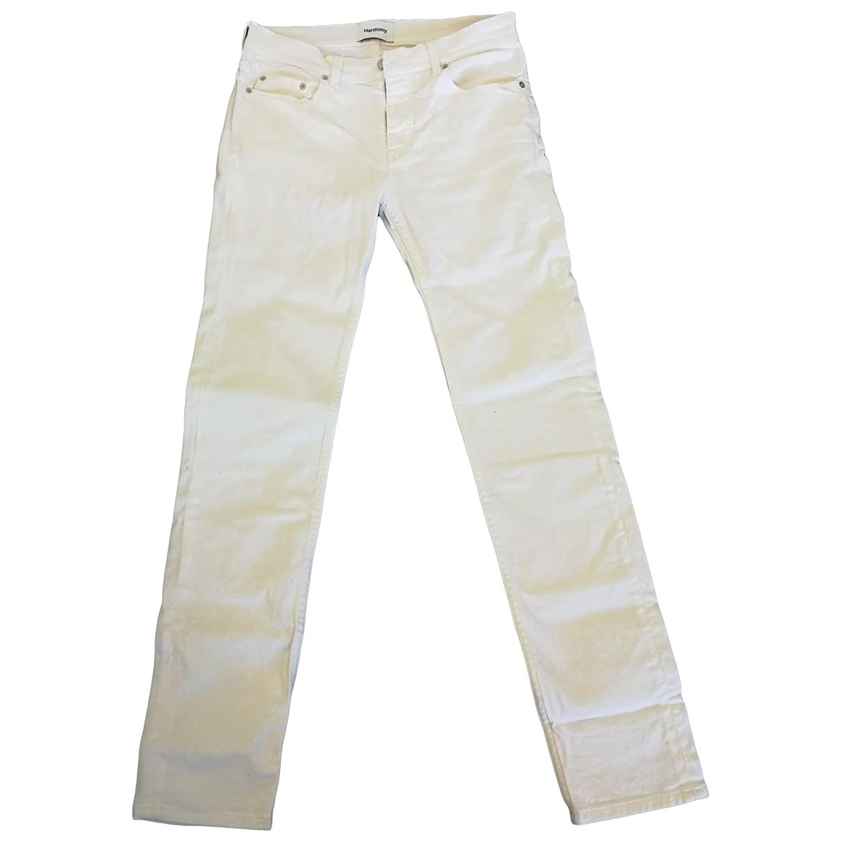Harmony \N White Denim - Jeans Jeans for Women 32 FR