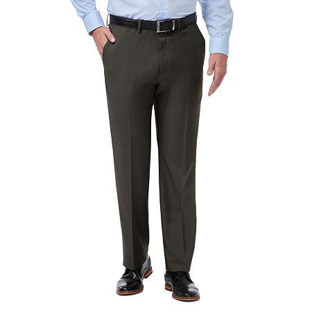Haggar Premium Comfort Dress Pant Classic Fit Flat Front, 32 30, Black