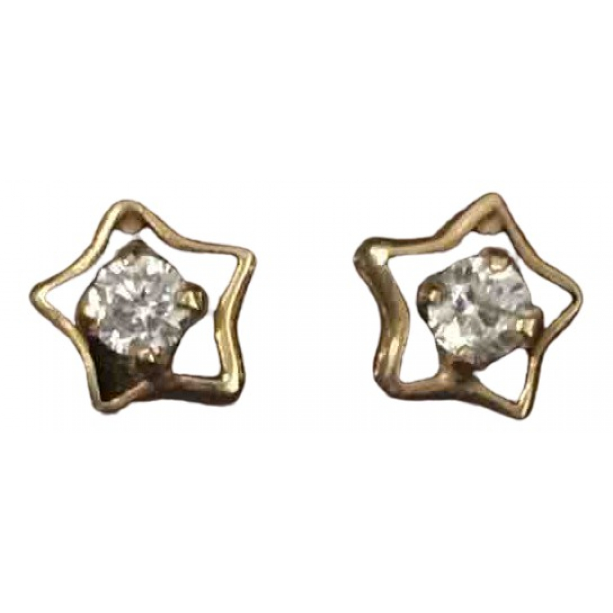 Non Signe / Unsigned Motifs Etoiles OhrRing in  Gold Gelbgold