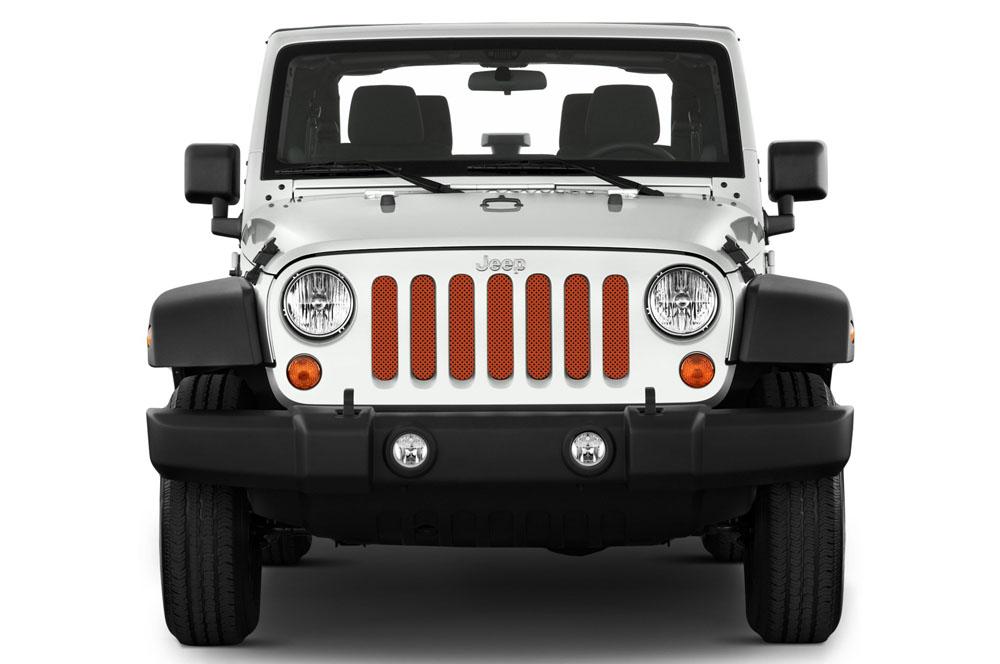 Jeep Gladiator Grill Inserts 2020-Present Gladiator Sunburst Orange Pearl Under The Sun Inserts INSRT-SLDSUNORG-JT
