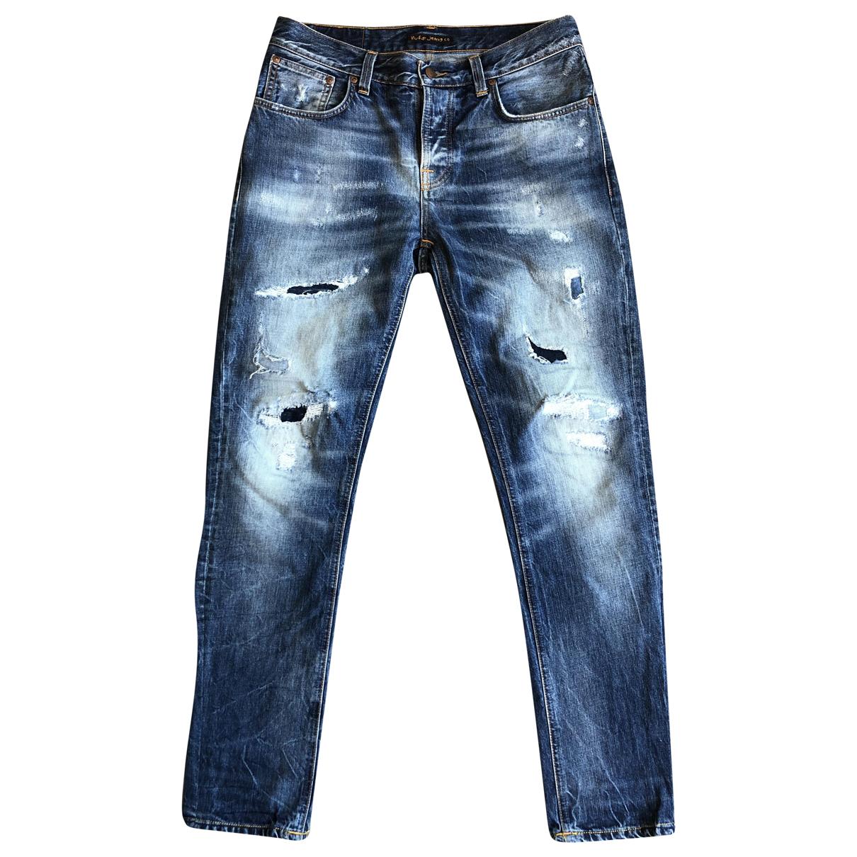 Nudie \N Blue Cotton Jeans for Men 33 US