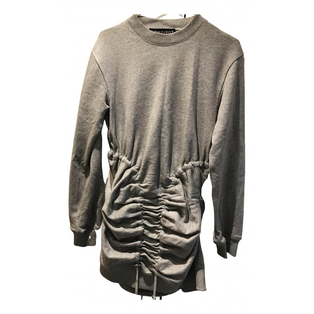 Y/project \N Kleid in  Grau Baumwolle