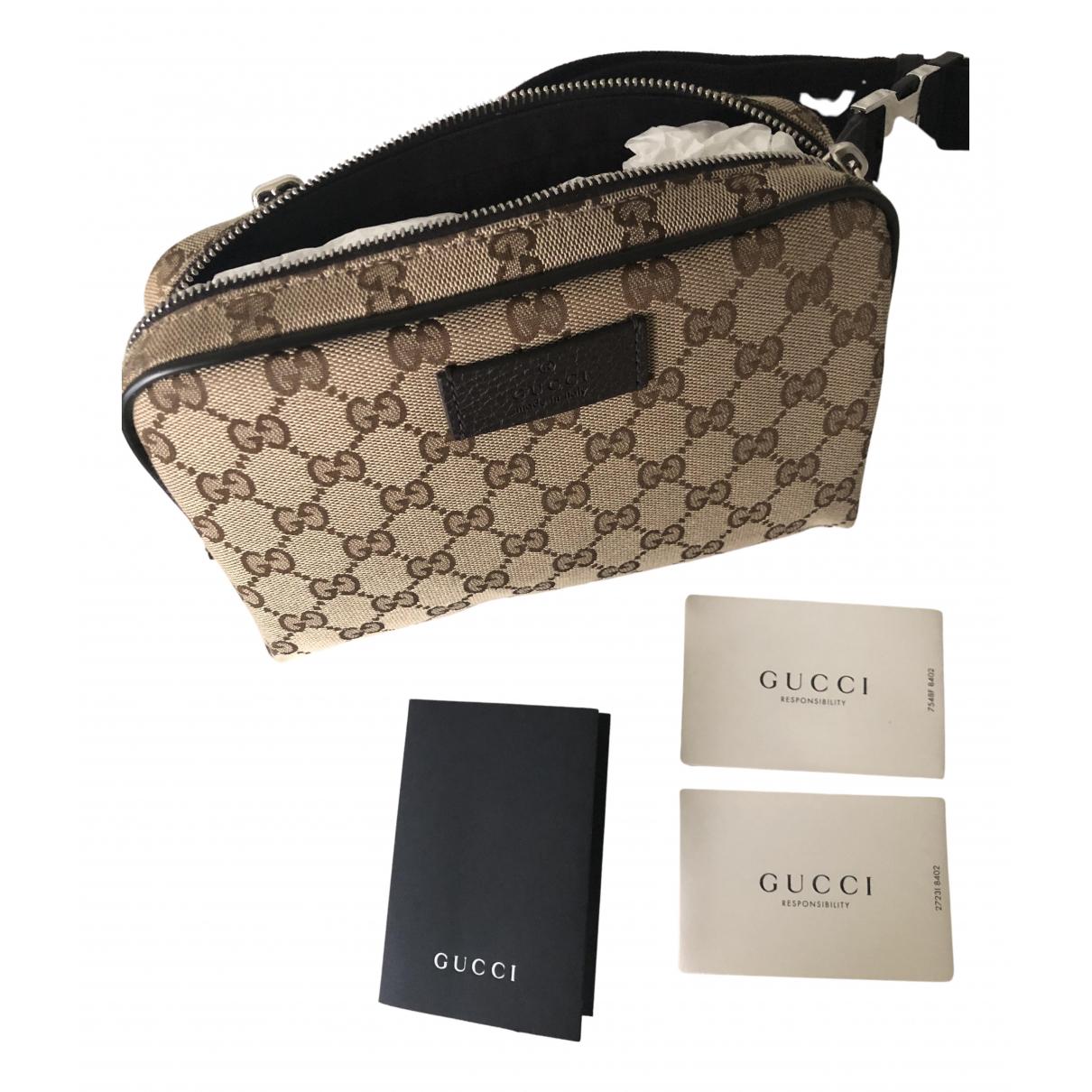 Gucci - Sac   pour homme en toile - beige