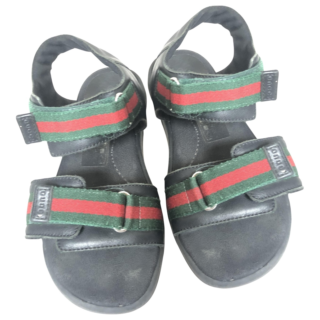 Gucci - Sandales   pour enfant en cuir - noir