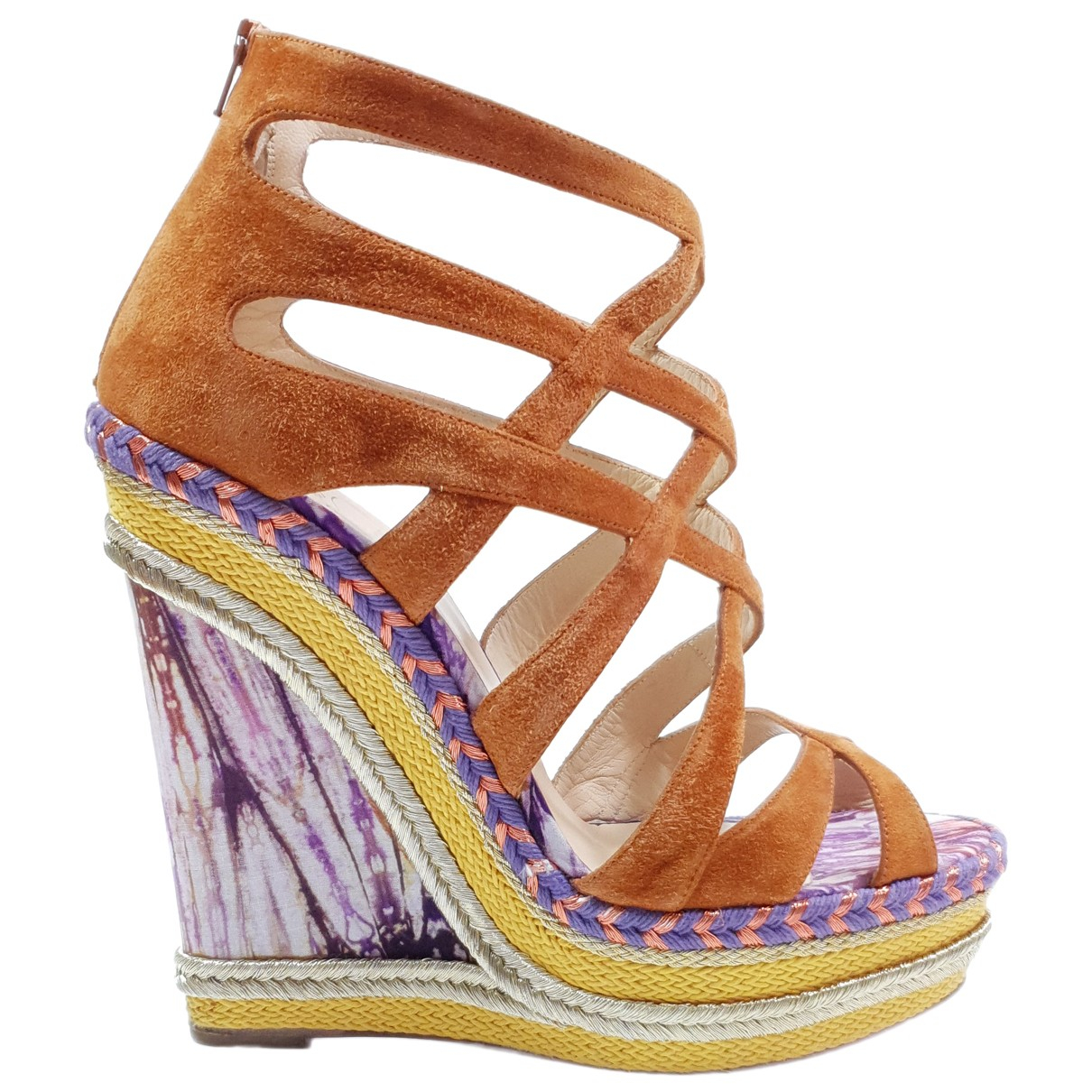 Christian Louboutin N Multicolour Leather Sandals for Women 39 EU