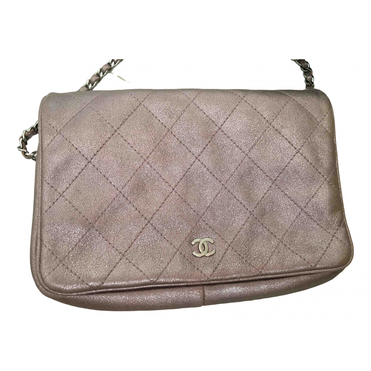 Chanel Wallet on Chain Metallic Leather Clutch bag for Women \N
