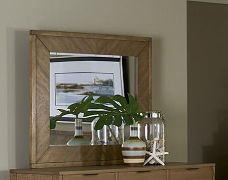 Strategy B100-50 Mirror with Wood Veneer Construction in Jute
