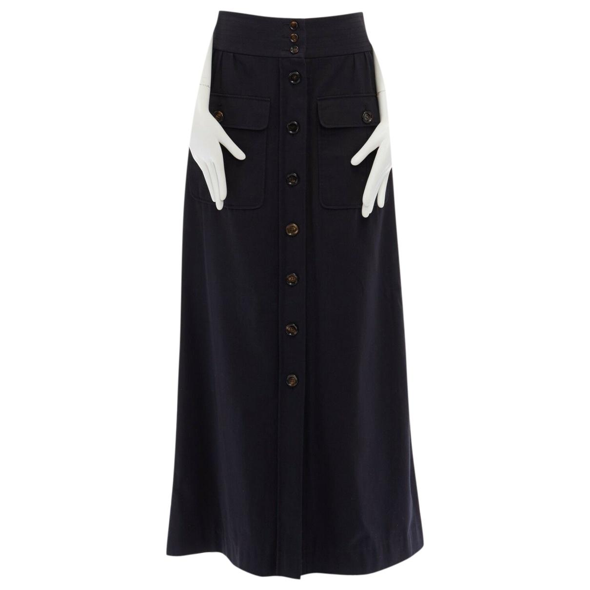 Chloé \N Black Cotton skirt for Women 36 FR