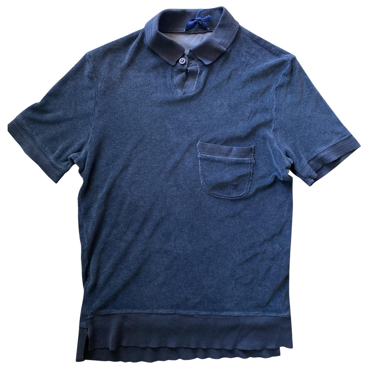 Non Signe / Unsigned \N Poloshirts in  Blau Baumwolle