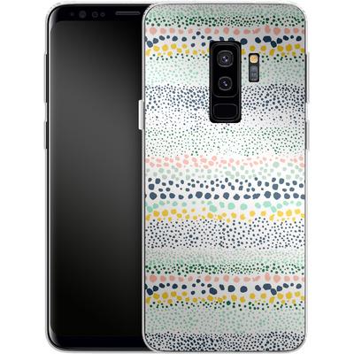 Samsung Galaxy S9 Plus Silikon Handyhuelle - Little Dots Textured White von Ninola Design