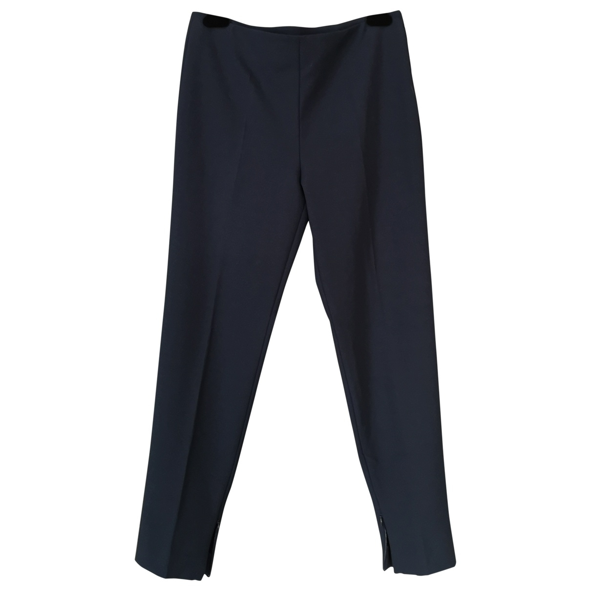 Red Valentino Garavani \N Navy Trousers for Women 44 IT