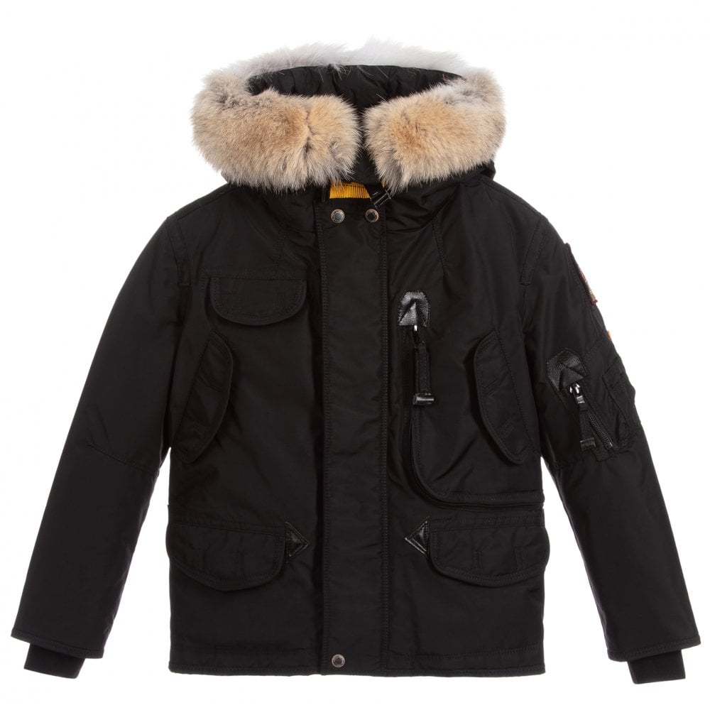 Parajumpers Kids Right Hand Jacket Colour: BLACK, Size: 10 YEARS