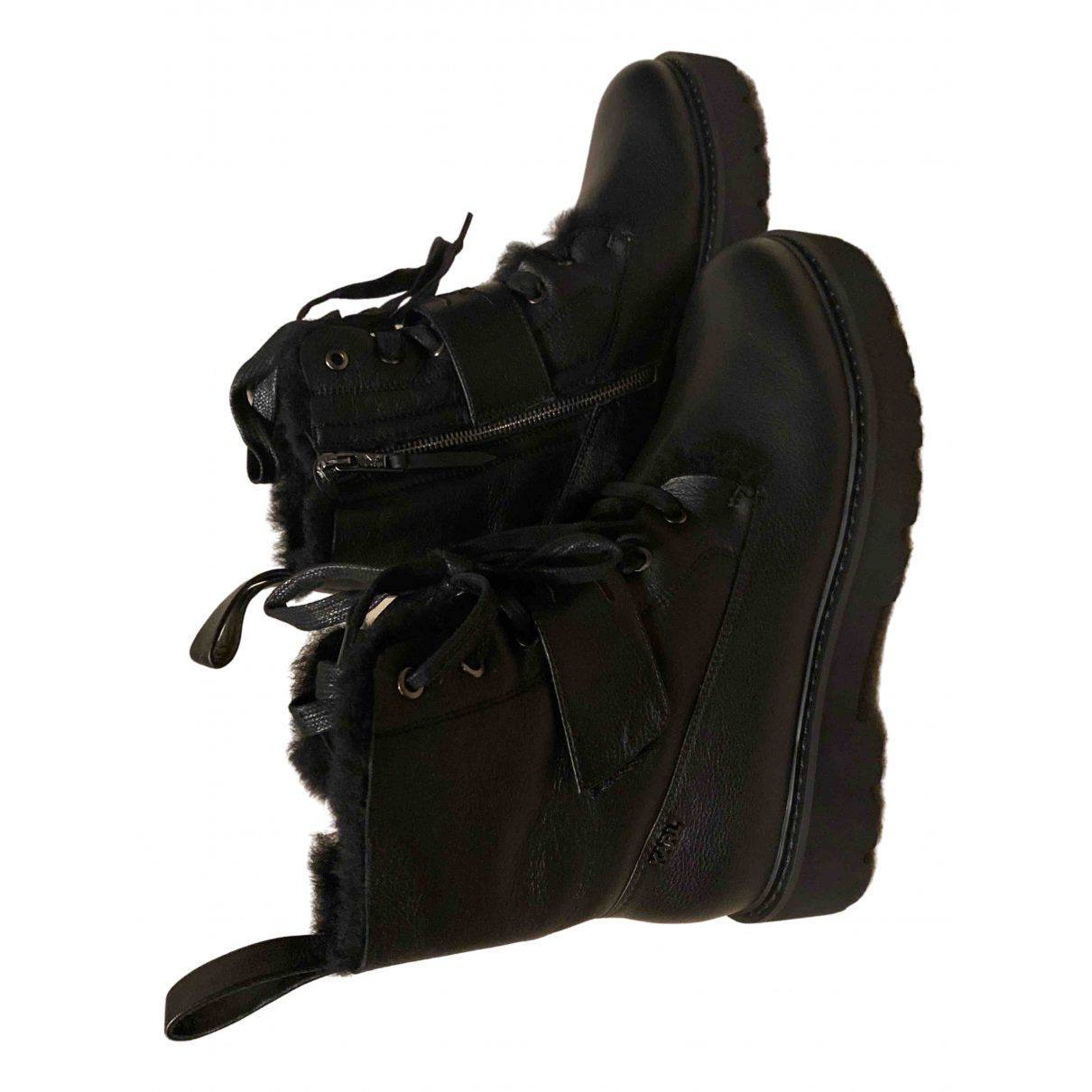 Karl Lagerfeld \N Black Leather Boots for Women 41 EU