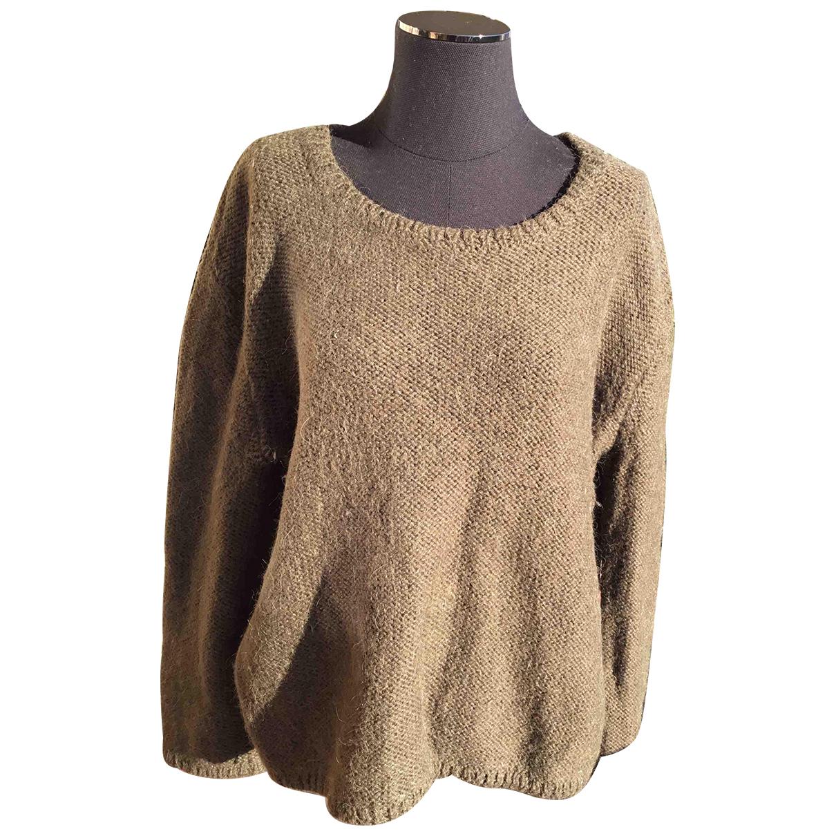 Ba&sh - Pull Spring Summer 2020 pour femme en laine - kaki