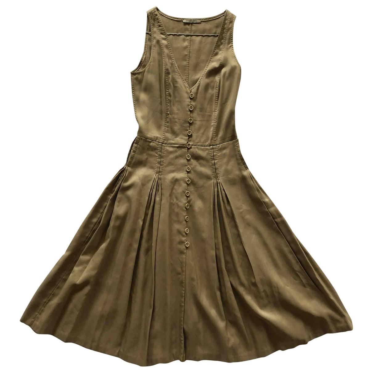 Bottega Veneta \N Khaki Cotton dress for Women 38 IT