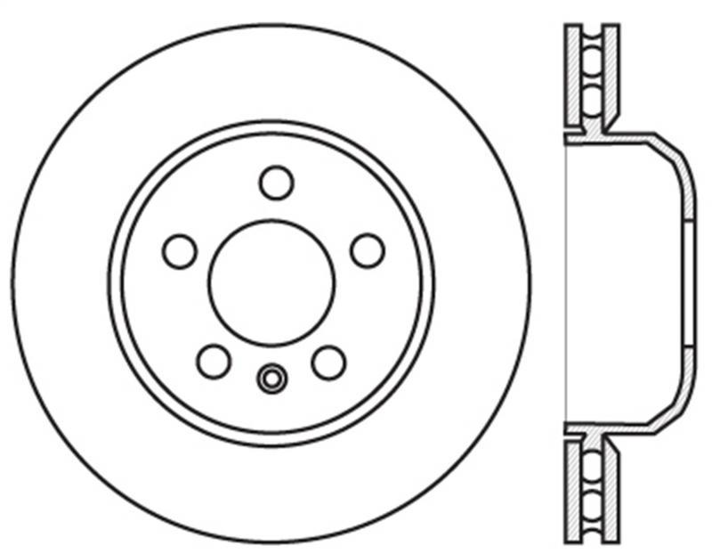 StopTech 127.34130L Sport Drilled/Slotted Brake Rotor; Front Left BMW 528i Front Left 2011-2016