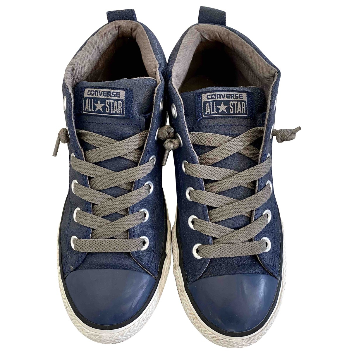 Converse \N Blue Leather Trainers for Women 38 EU