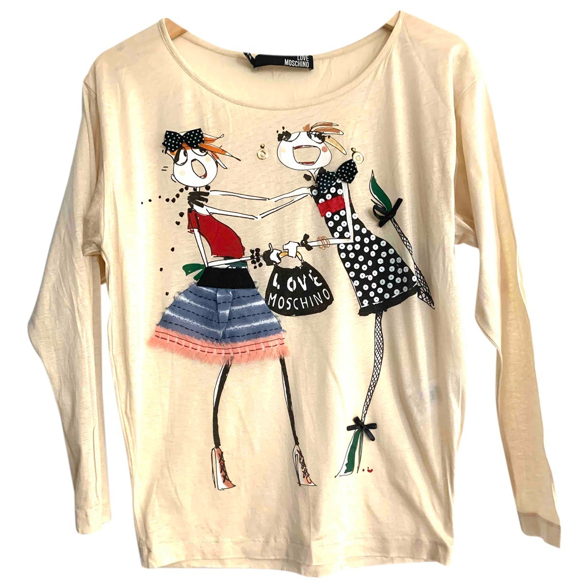 Moschino Love N Beige Cotton  top for Women 38 IT