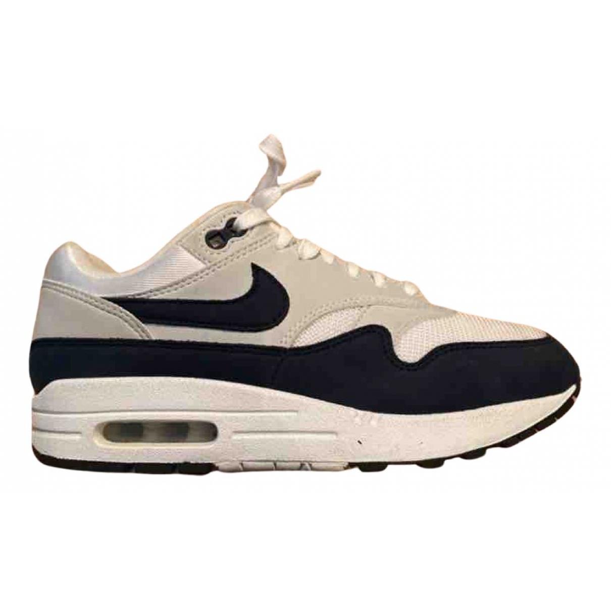 Nike Air Max 1 Sneakers in  Marine Leinen