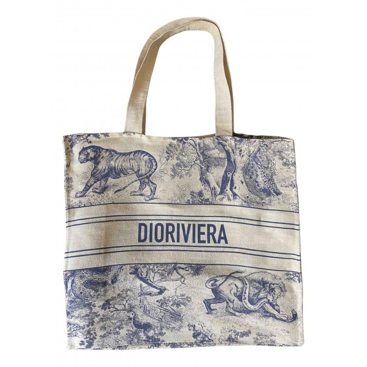 Dior - Sac a main   pour femme en toile - bleu