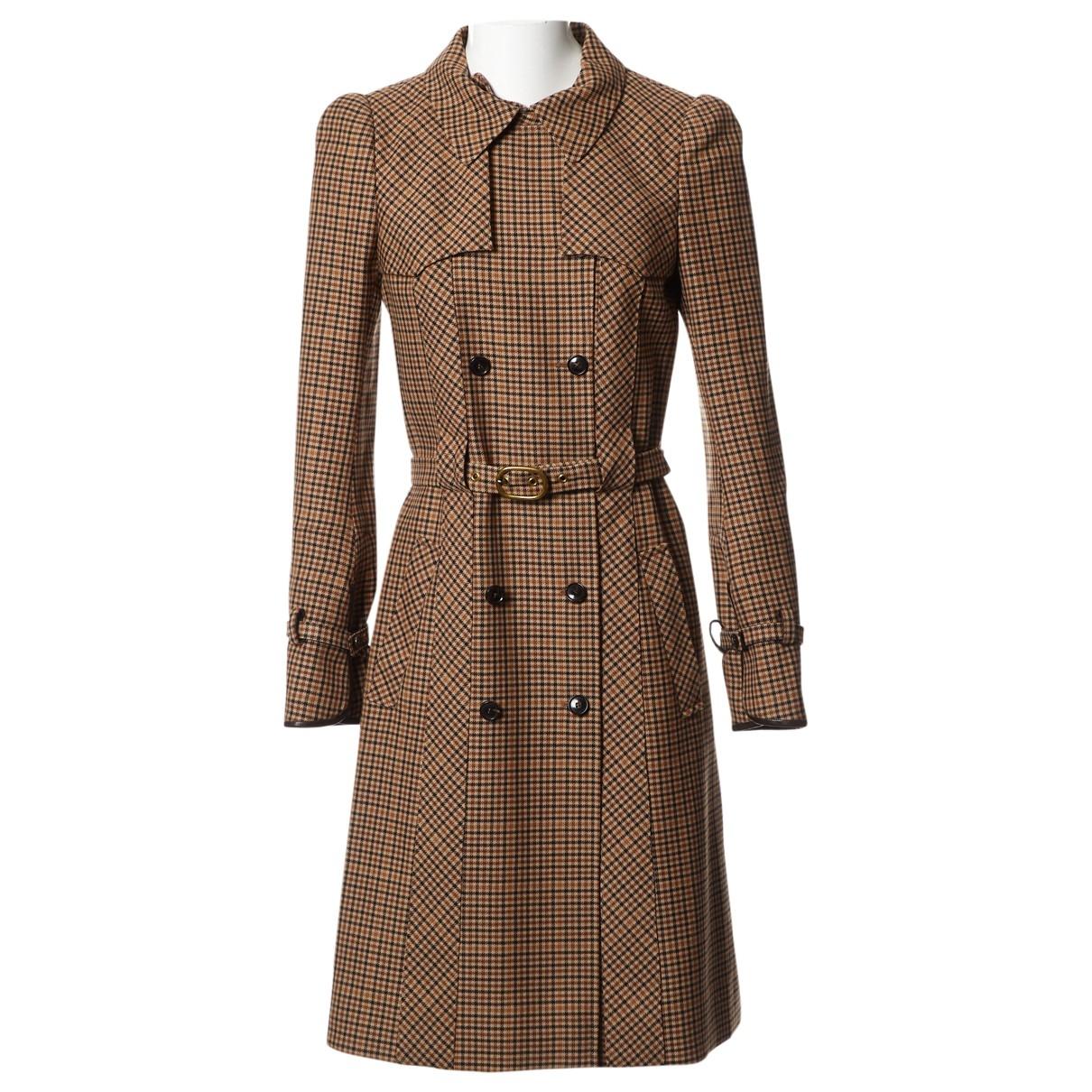 Balenciaga \N Maentel in  Braun Wolle