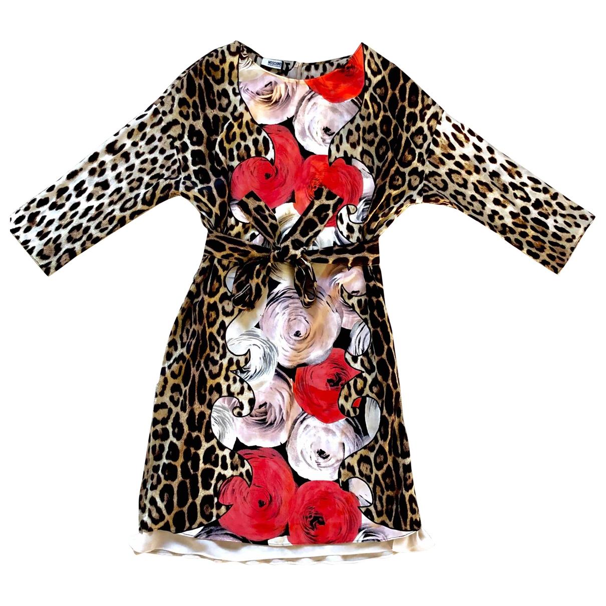 Vestido en Seda Multicolor Moschino Cheap And Chic