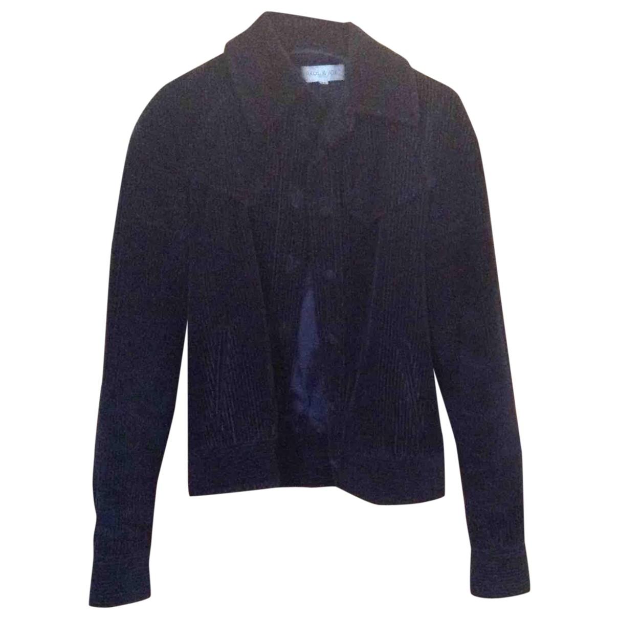 Paul & Joe \N Blue Velvet Leather jacket for Women 38 FR