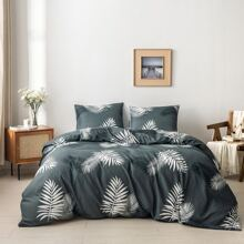 Leaf Print Bedding Set Without Filler