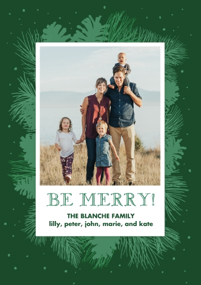 Christmas Photo Cards 5x7 Cards, Standard Cardstock 85lb, Card & Stationery -Natural Pine