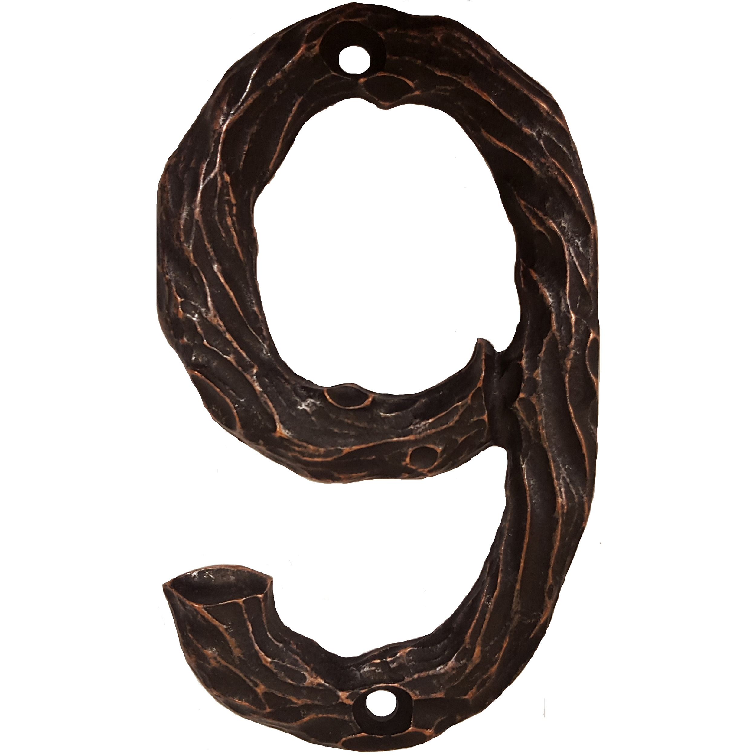 LHN9-ORB Log House Number 9, Oil Rubbed Bronze, 1 piece