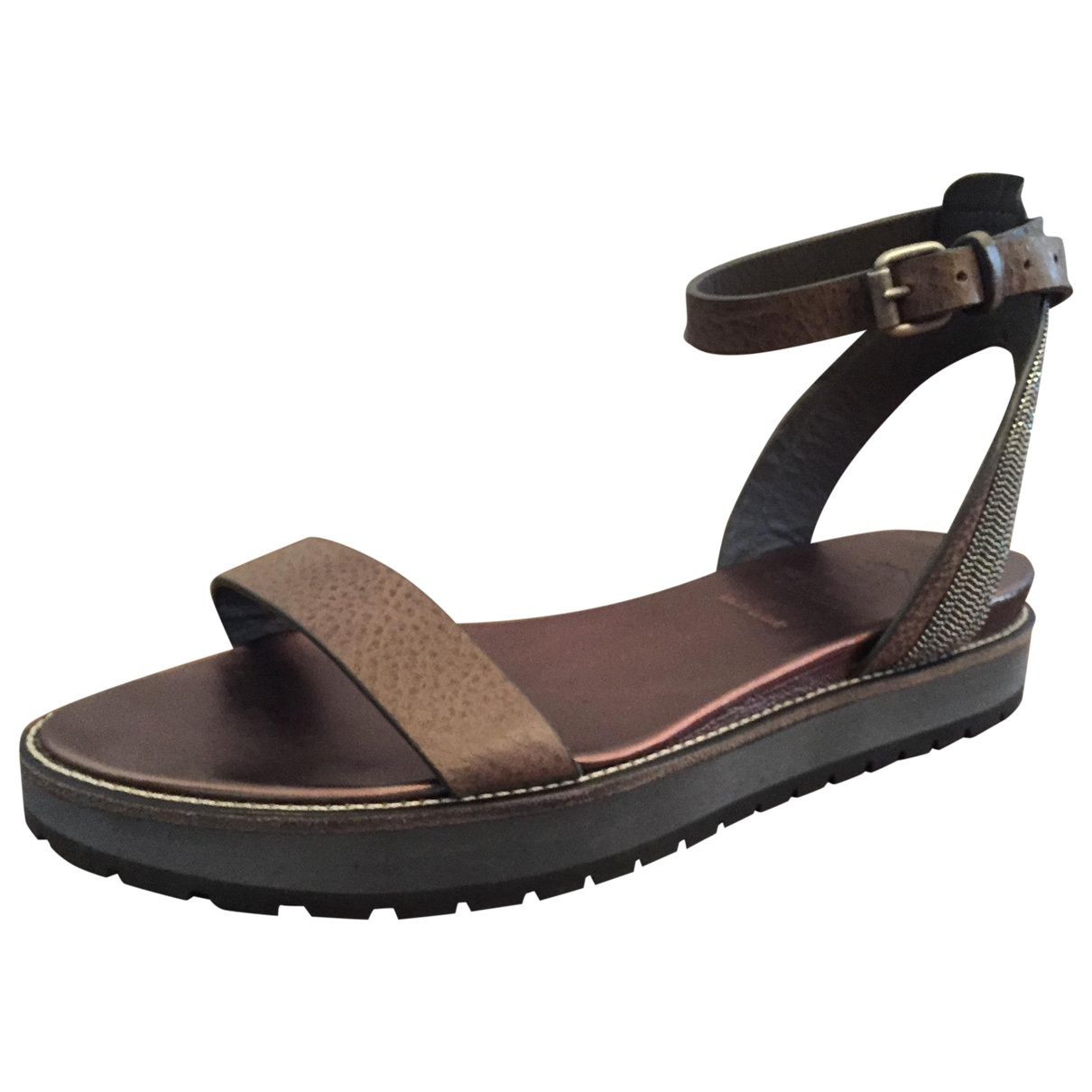 Brunello Cucinelli \N Brown Leather Sandals for Women 36 EU
