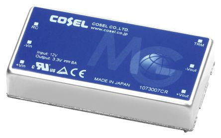 Cosel MG 30W Isolated DC-DC Converter Through Hole, Voltage in 9 → 18 V dc, Voltage out 12V dc