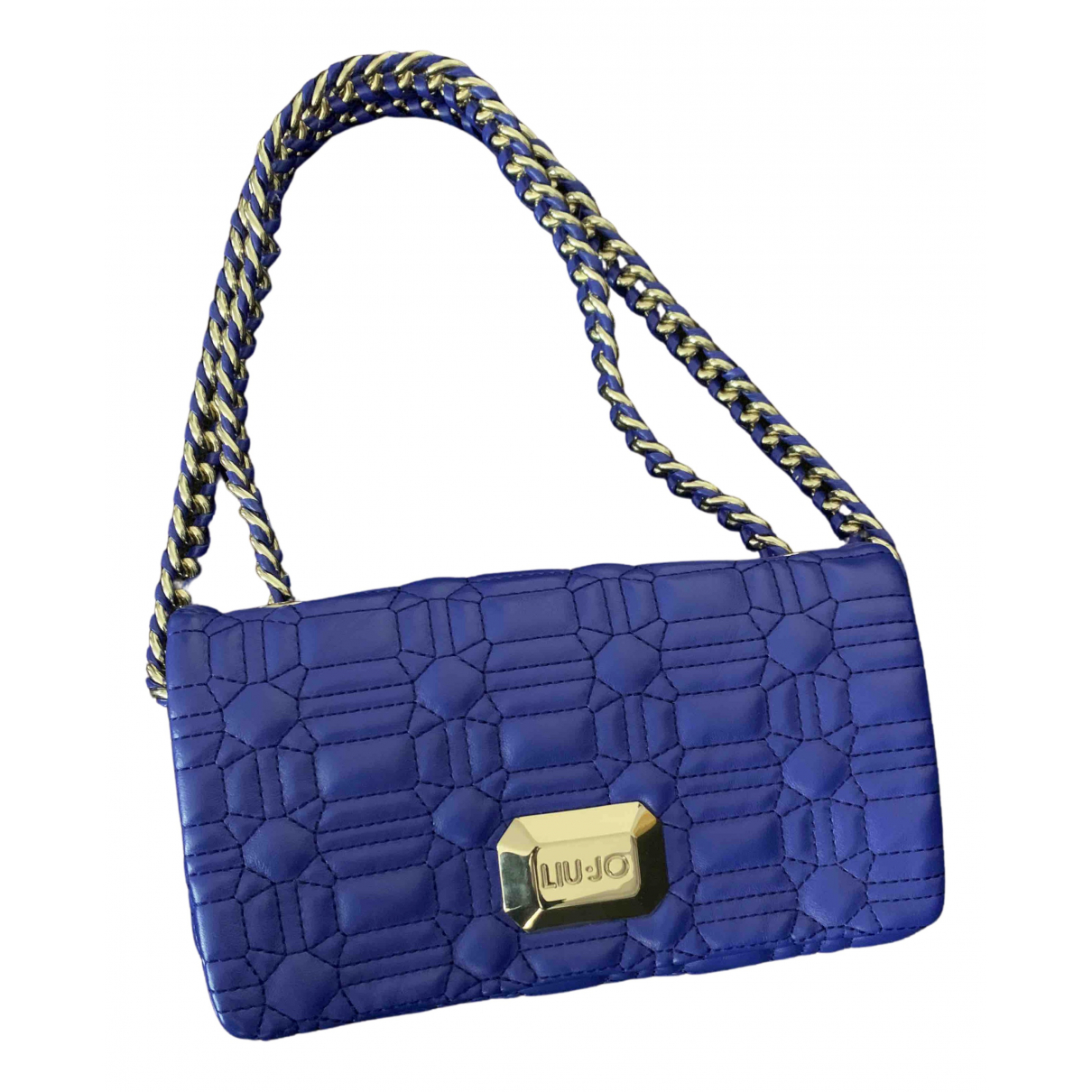 Liu.jo \N Clutch in  Blau Leder