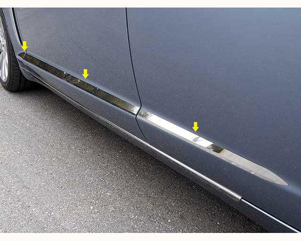 Quality Automotive Accessories 6-Piece Rocker Panel Accent Trim Kit Jaguar XF | XFR 2011