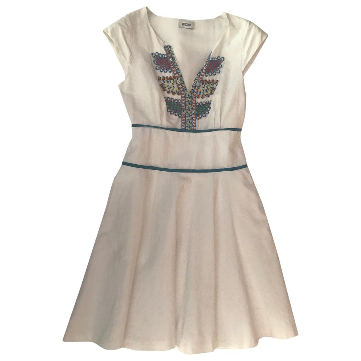 Moschino \N Kleid in  Weiss Baumwolle