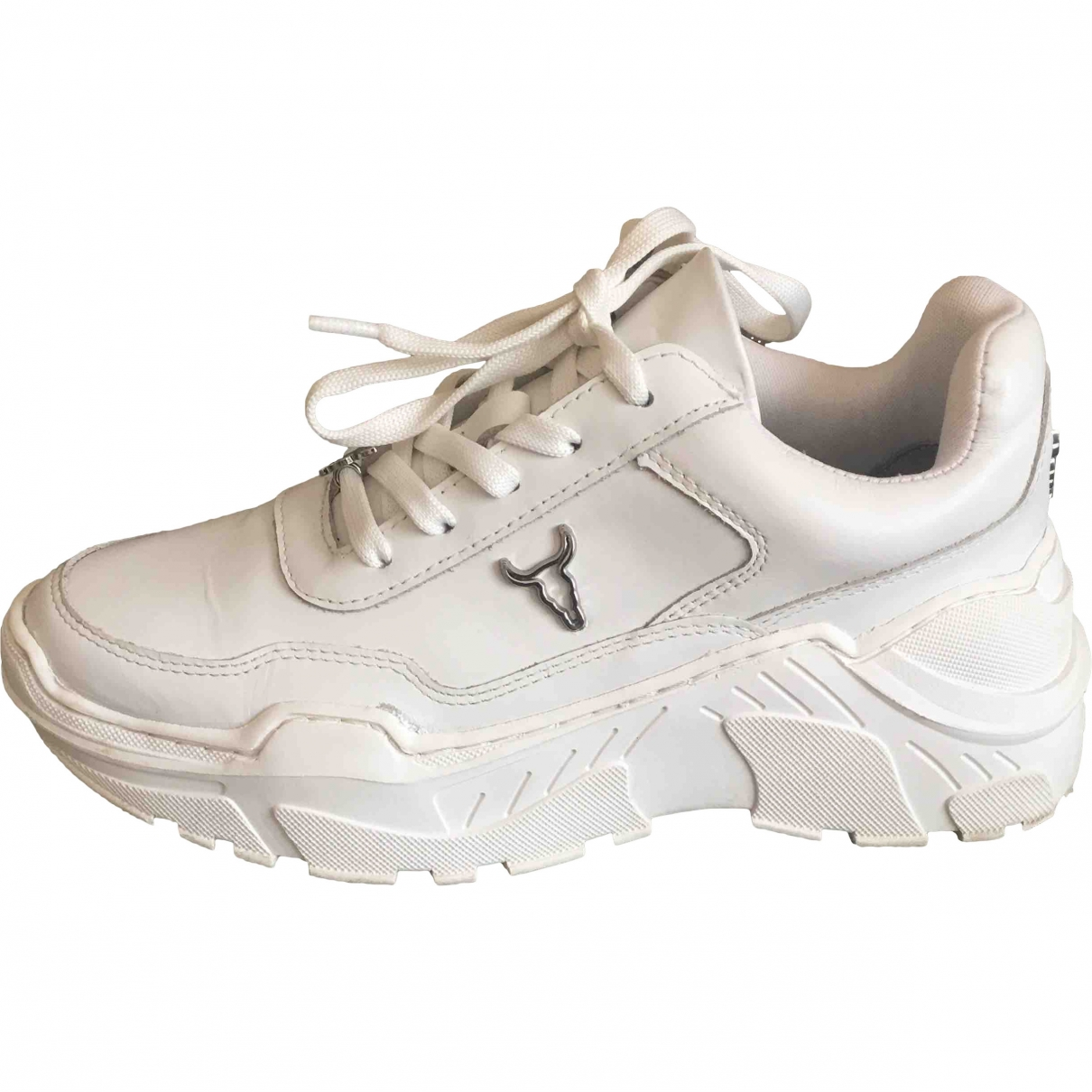 Windsor Smith \N White Leather Trainers for Women 37 EU