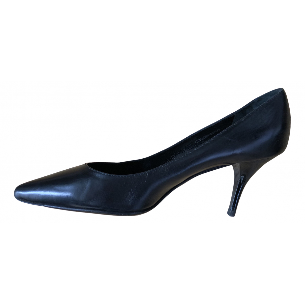 Burberry N Black Leather Heels for Women 38.5 EU
