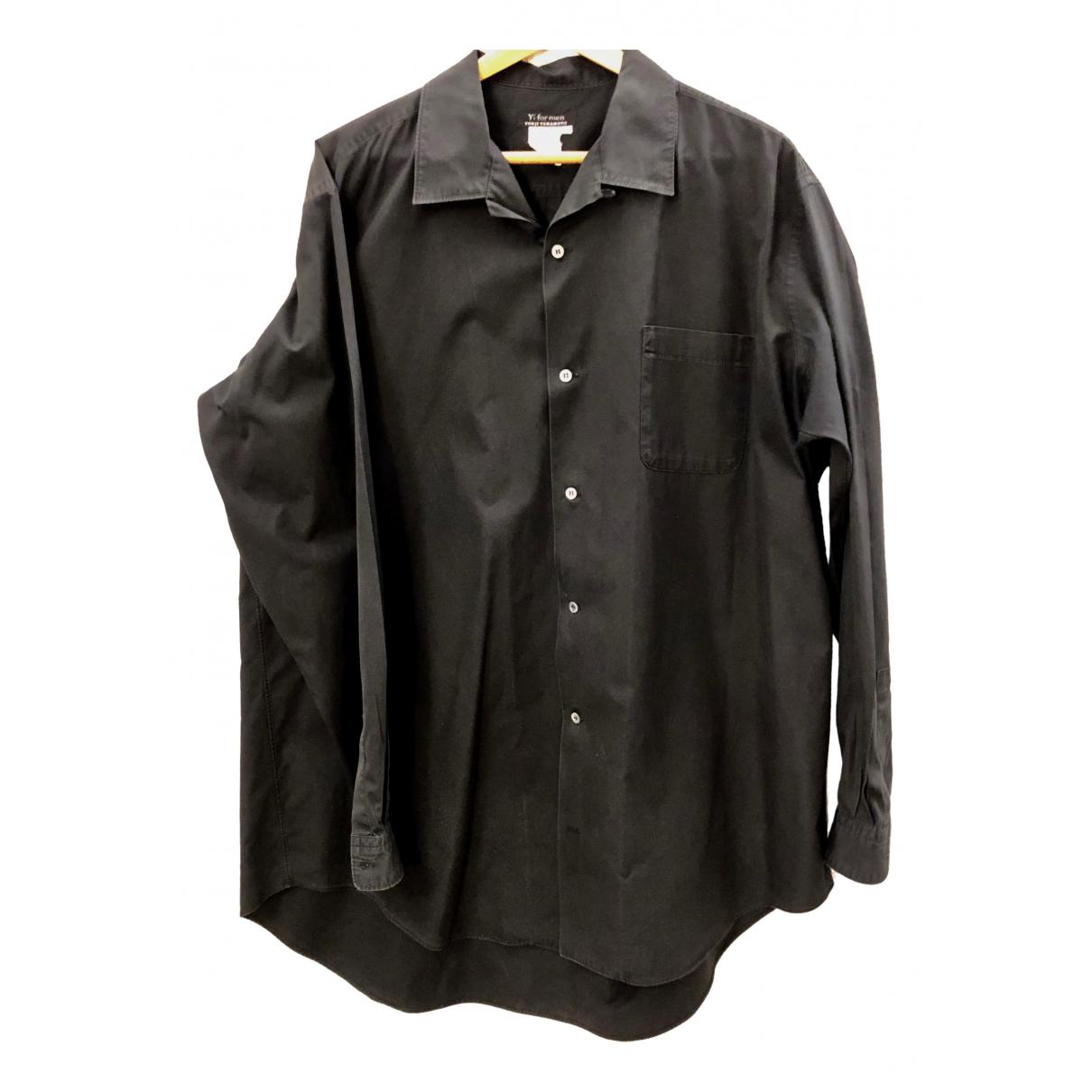 Ys - Chemises   pour homme en coton - noir