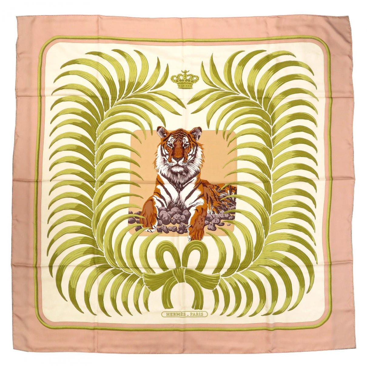 Hermès Carré Géant silk 140 Pink Silk scarf for Women \N