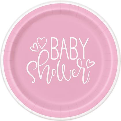 Pink Hearts Baby Shower Round 9