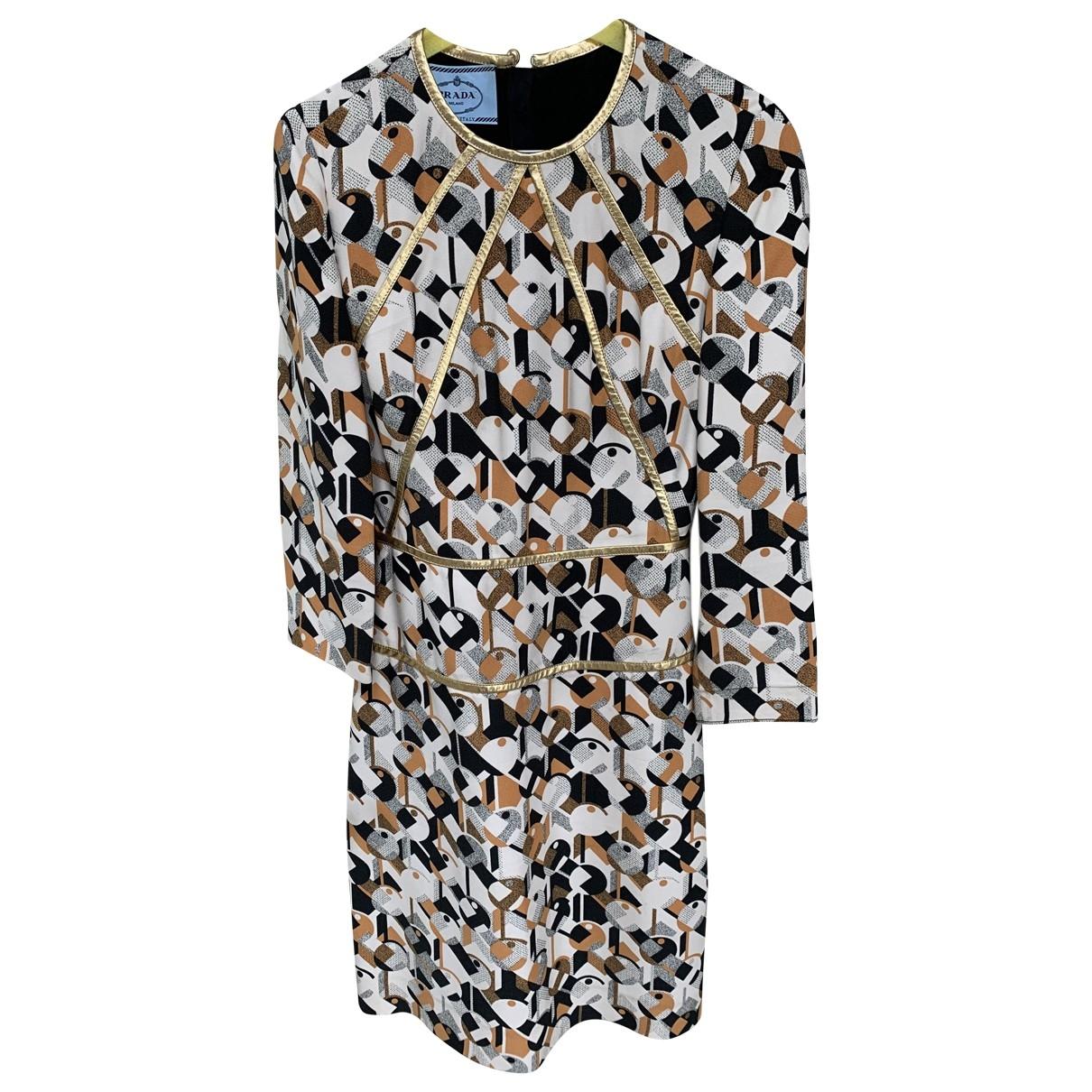 Prada \N Kleid in  Bunt Wolle