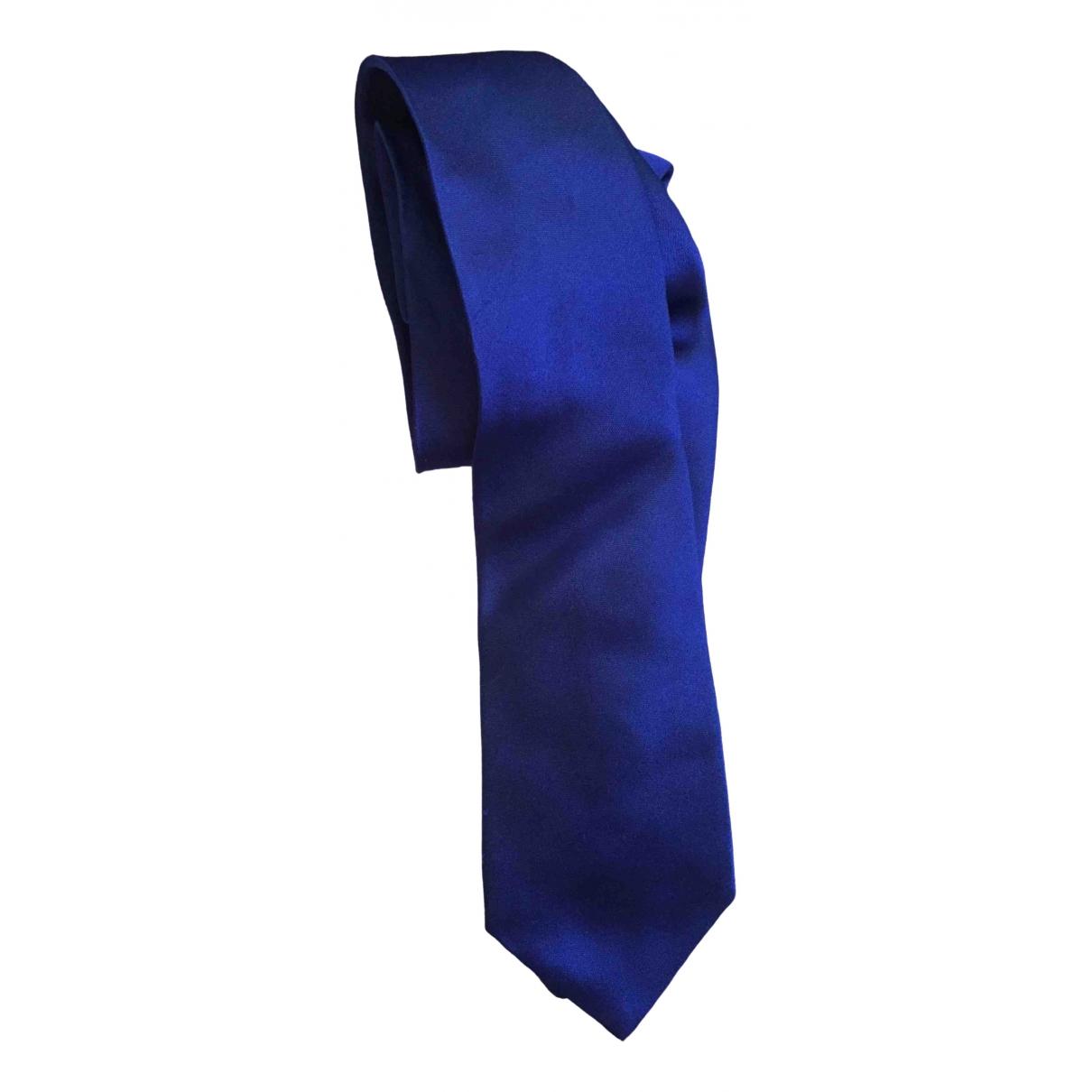 Emporio Armani \N Krawatten in  Blau Seide