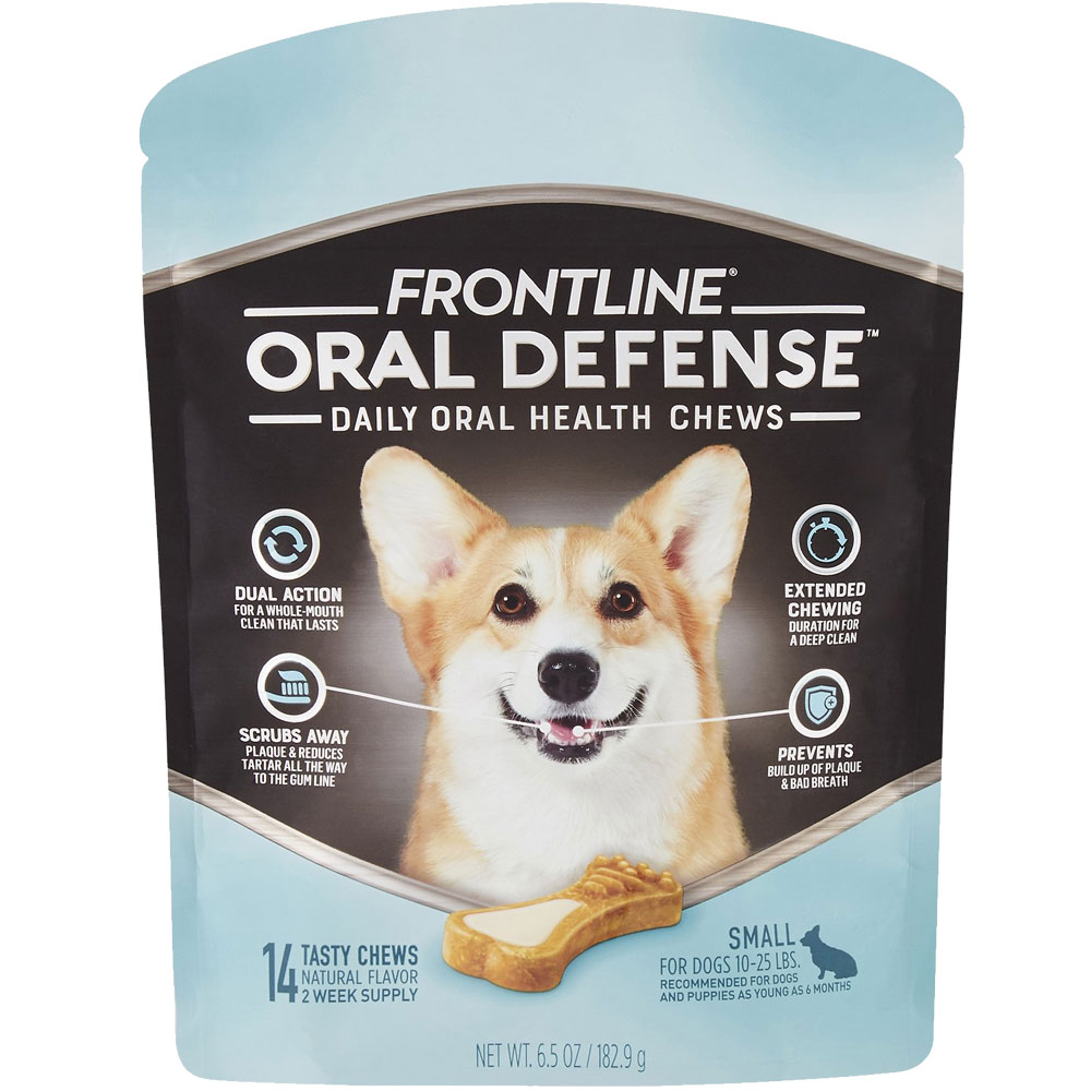 Frontline Oral Defense Daily Oral Health Chews for Small Dogs - 10-25 lbs (14 count)