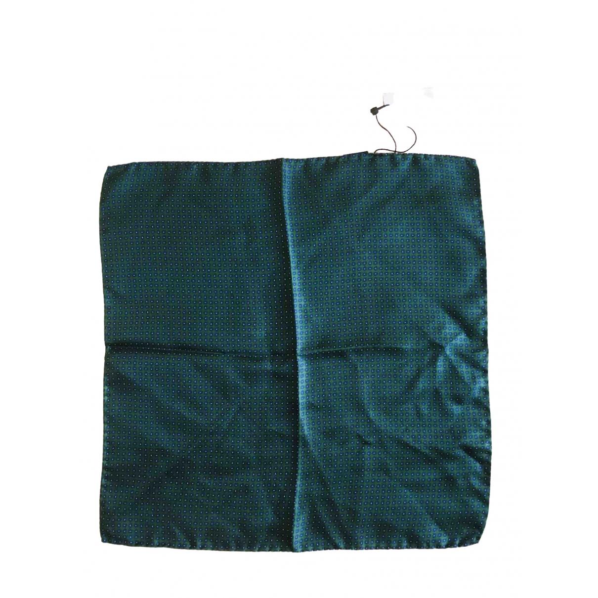 Hackett London \N Green Silk scarf & pocket squares for Men \N