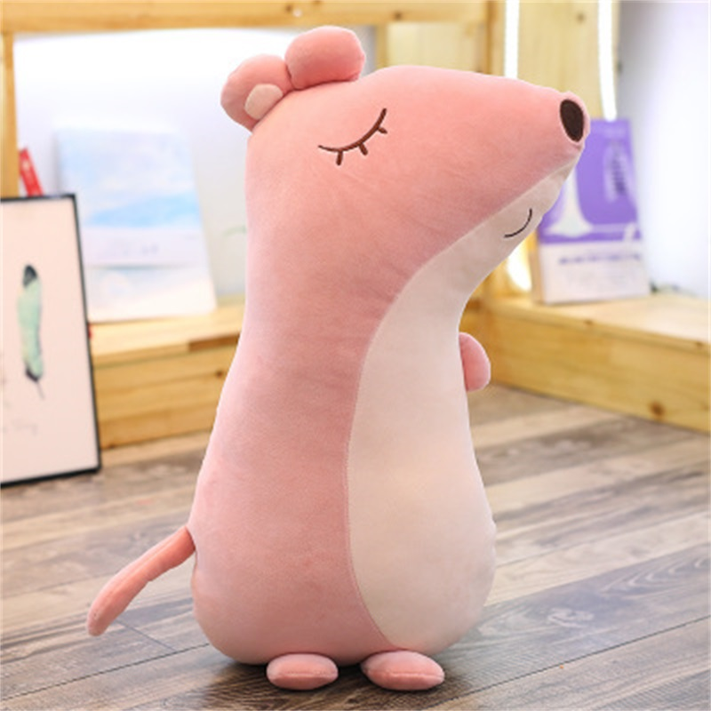 Three Color Mouse Shape Creative Gift Funny Soft Plush Toy Throw Pillow