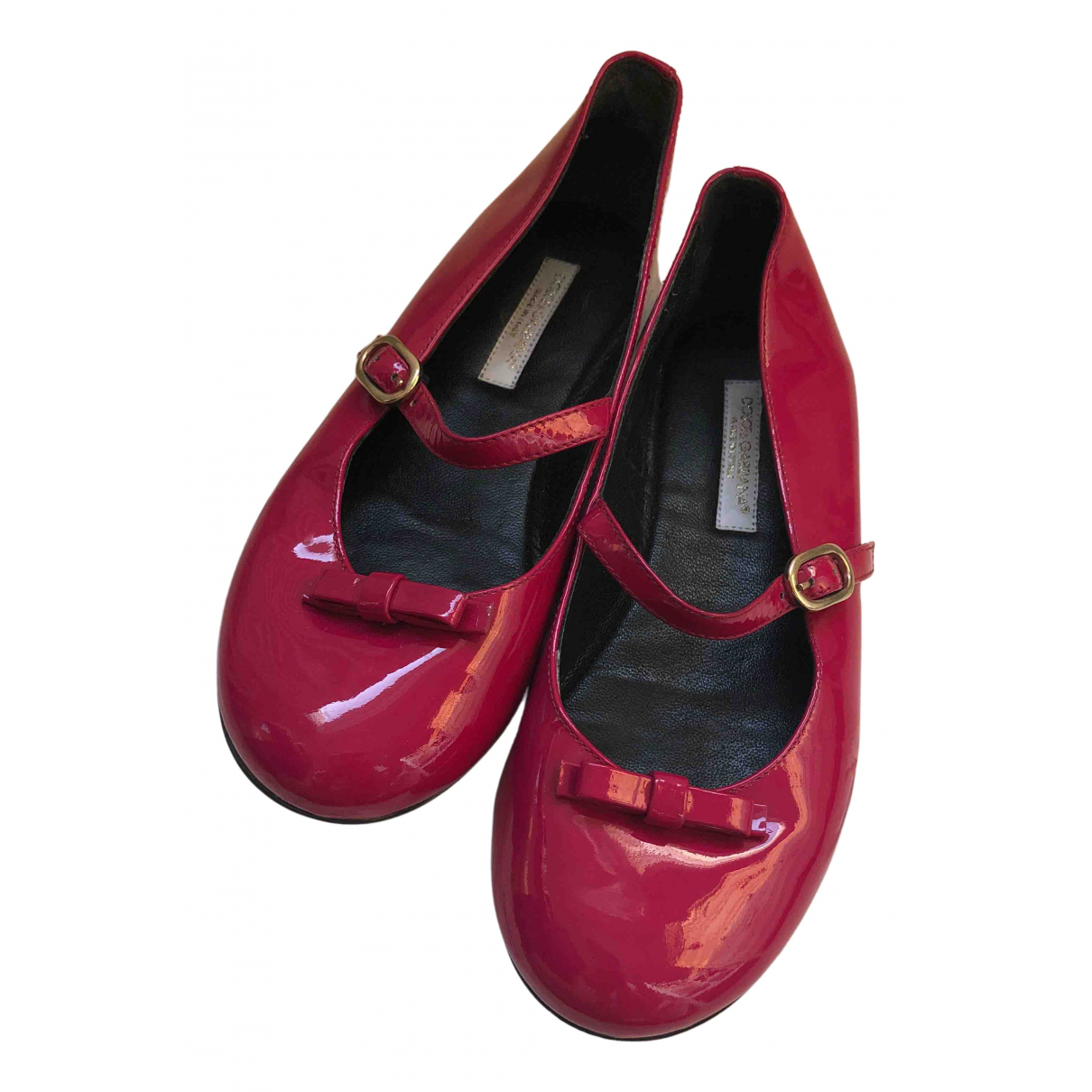 Dolce & Gabbana \N Ballerinas in  Rosa Lackleder