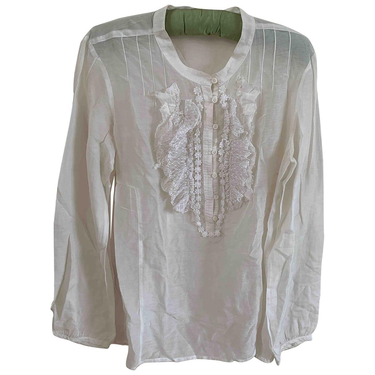 Comptoir Des Cotonniers - Top   pour femme en coton - ecru