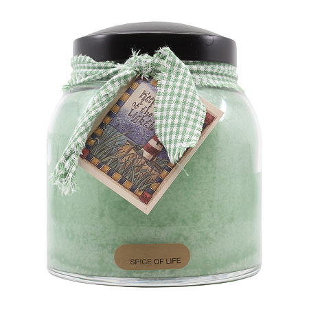 A Cheerful Giver 34oz Papa Spice Of Life Jar Candle, One Size , Green